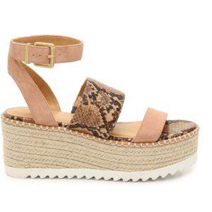 Crown Vintage Daylen Espadrille Wedge Sandals NWB